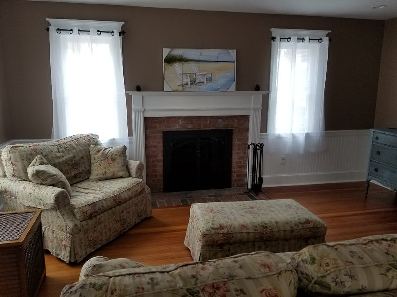Living Room Sofa, love seat, ottoman & TV