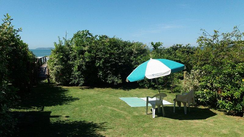 vue sur le jardin privé