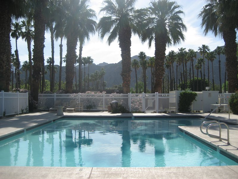 Closest pool , less than a two minute walk, with beautiful view of mountains and course