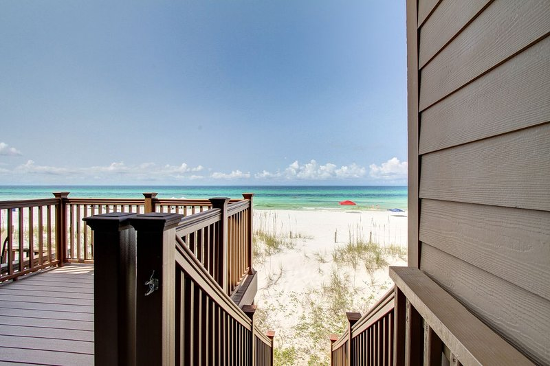 Private beach access from your deck