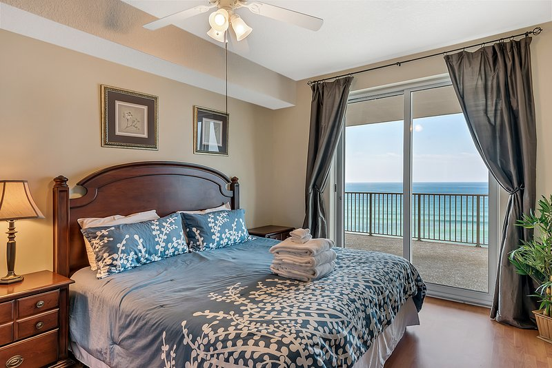 Gulf Front Master Suite #1 with King bed and private balcony access
