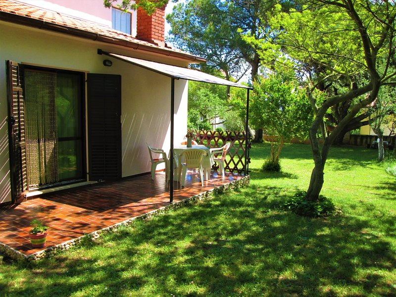 Terrace in the garden - place for relax