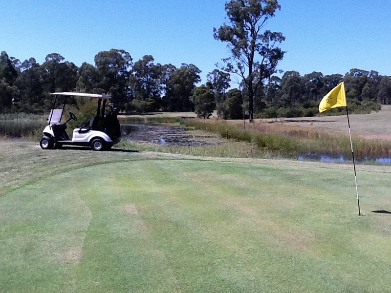 Challenging par 35 full length country style golf course