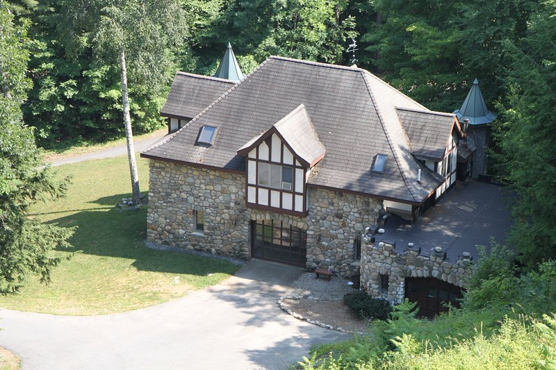 The Castle Gatehouse is located on the Highlands Castle estate... 1/2 mile from Lake George.