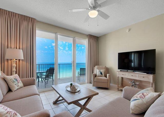Majestic Sun 1109A - belas vistas do Golfo da sala de estar