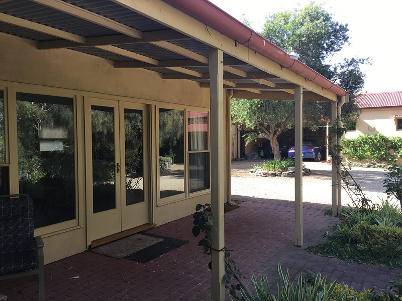 Exterior Garden Suite with large covered Patio area