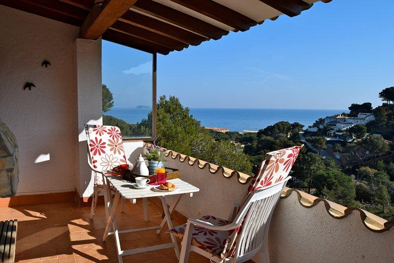 Desayuno terraza con vistas al mar - Terraza cubierta - Sa Punta COSTA BRAVA