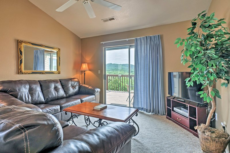 Retreat inside to find the comforts of home, 2 bedrooms, and 2 bathrooms.