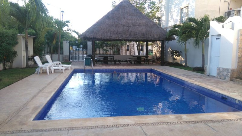 Pool with palapa