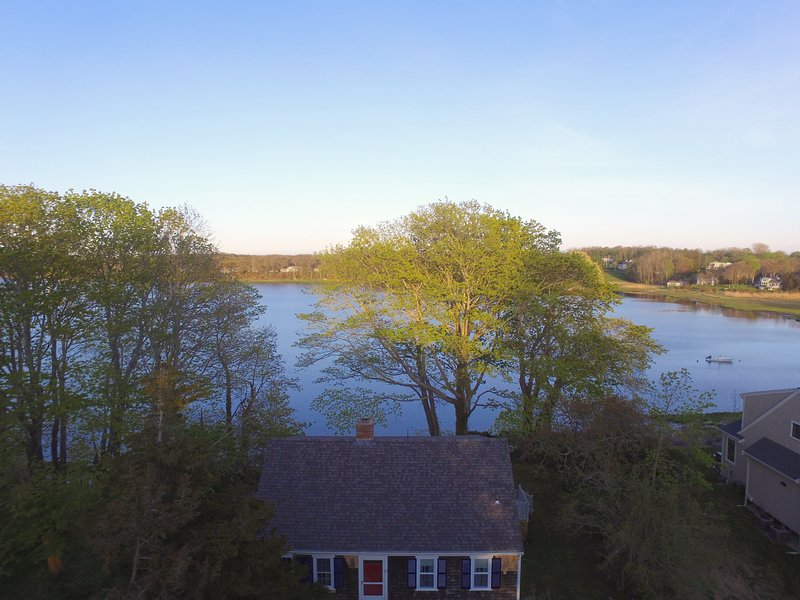 Aerial view of the home - waterfront on Town Cove