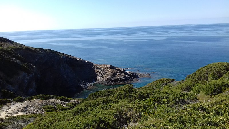 Panorama from the coastal path of Li Furreddi, access to the sea about 900 m from the property