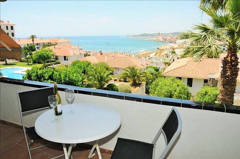 Terrasse mit Blick auf das Meer