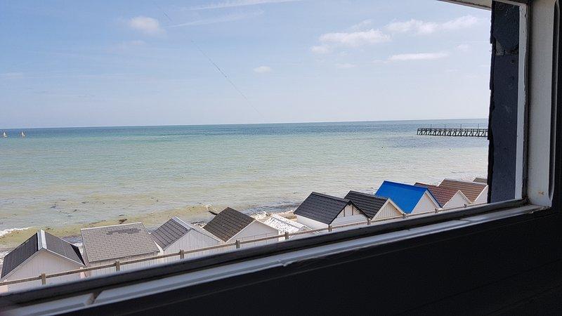 Vue de la villa Beauvoir Luc sur mer