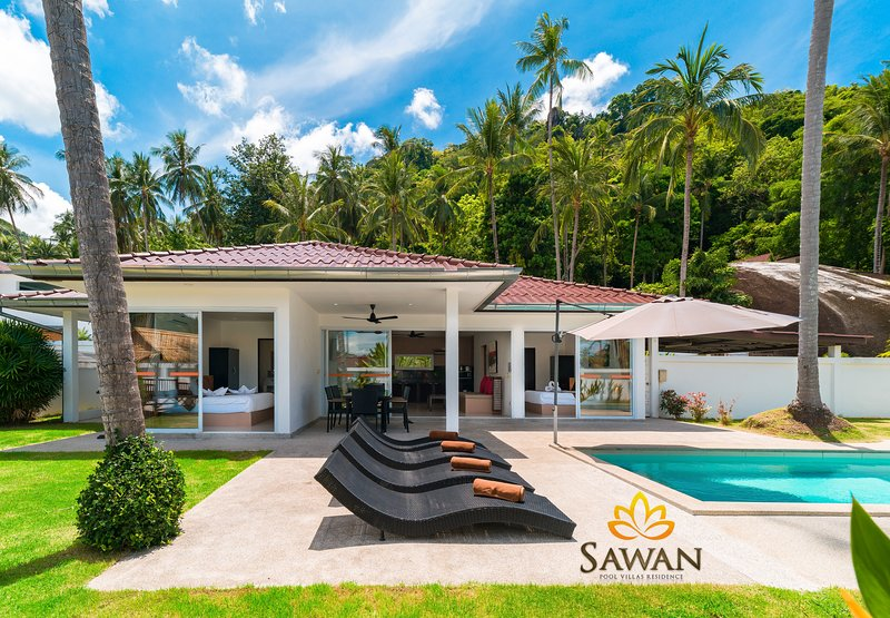 SAWAN Pool Villa 3 bedrooms Lamai Koh Samui, vacation rental in Lamai Beach