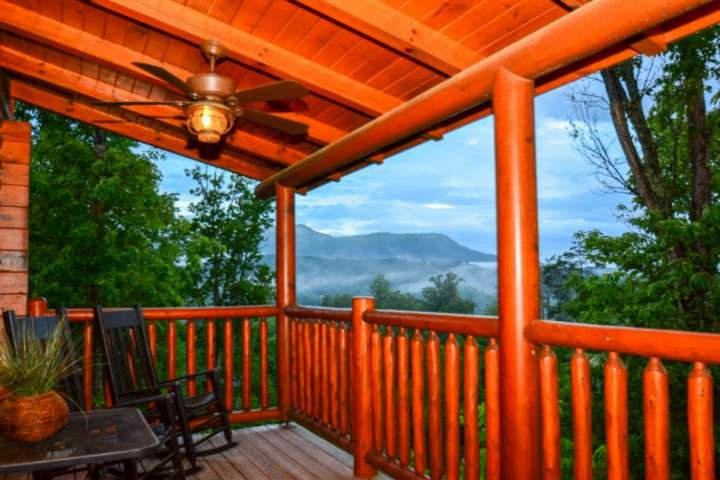 Enjoy your balcony views of Bluff Mountain in the distance.