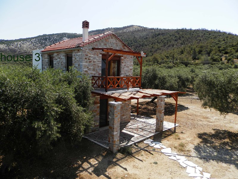 Elea Stone house, in an olive grove, quiet place,, holiday rental in Skala Sotiros