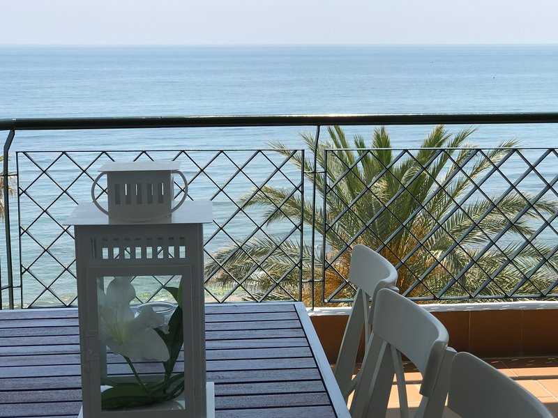 terrace of the apartment with sea view