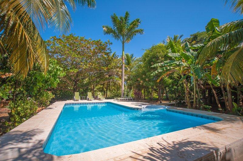 Su propio jardín privado piscina Oasis!