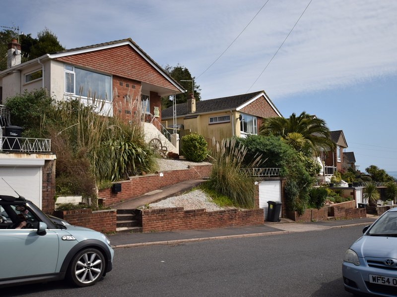 Front of the property with views down to the seafront