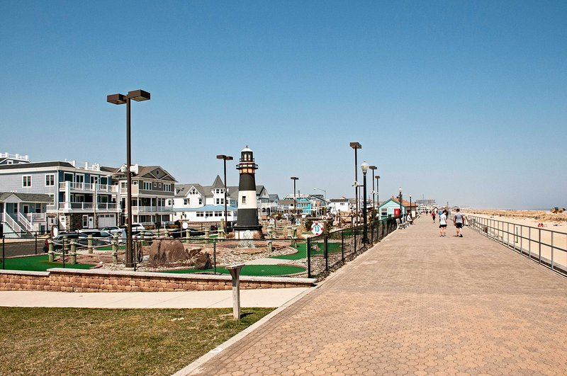 Bradley Beach is renowned for the kind atmosphere and less crowded beaches.
