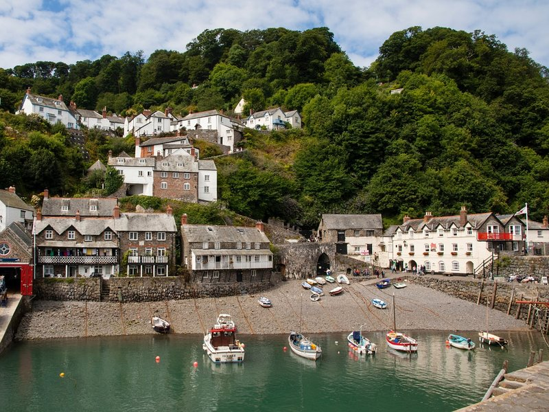Sheltered harbour of Clovelly,a short drive from the property