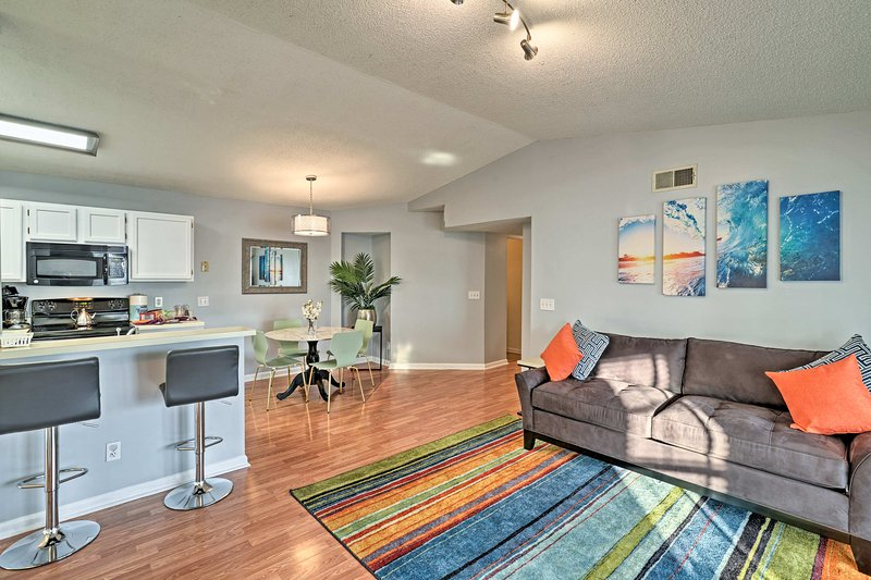 Make this modern Surfside Beach condo your new home-away-from-home.
