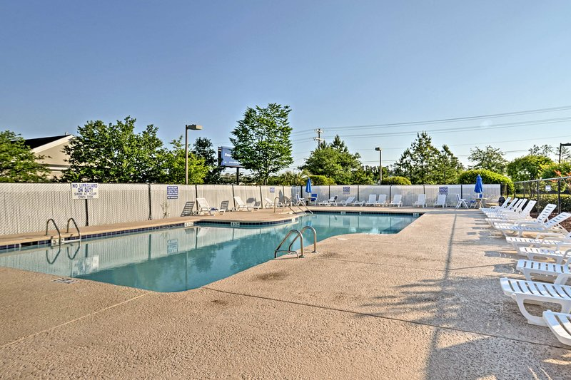 Take a break from the beach and pend an afternoon by the community pool.