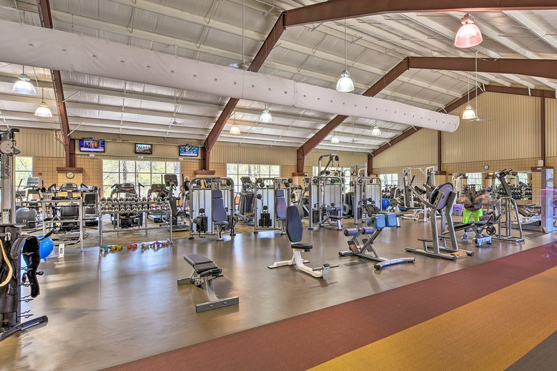 Get a workout in at the state-of-the-art fitness center.
