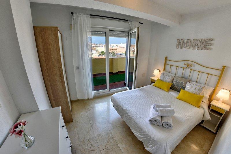 camera da letto con terrazzo