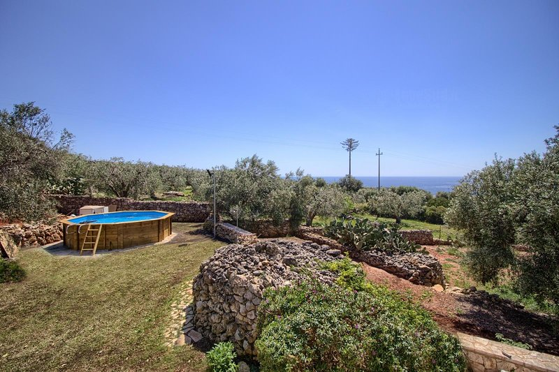 Pizzica luxury villa with pool, holiday rental in Patu