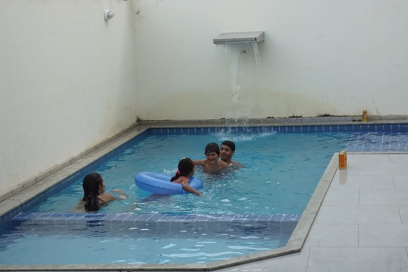Pool for adults and children next to the gourmet area.