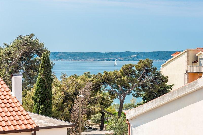 vista para o mar a partir do terraço principal