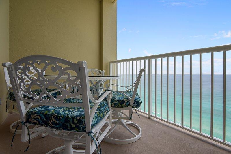 Grand Panama 1808-Dining Area on Balcony