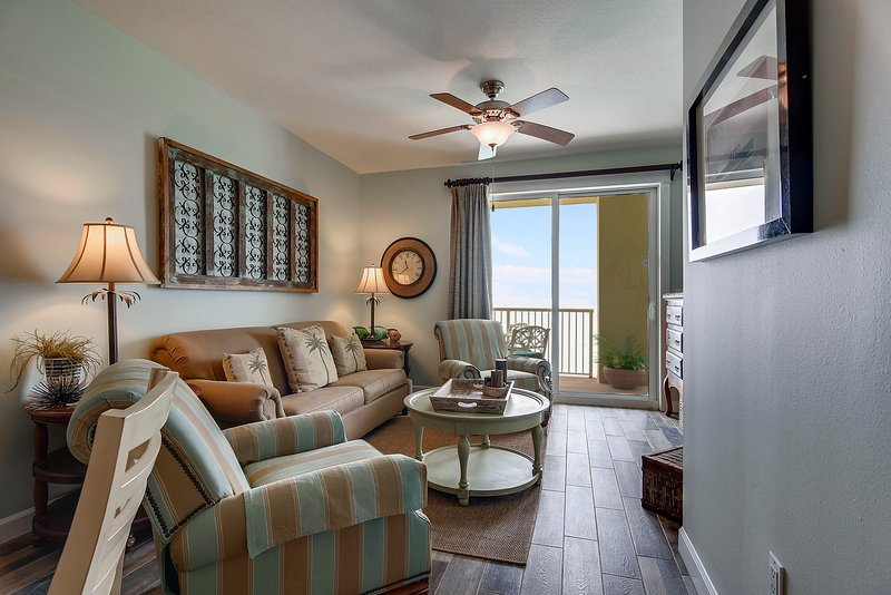 Grand Panama 1808-Living Area with a view of the Gulf