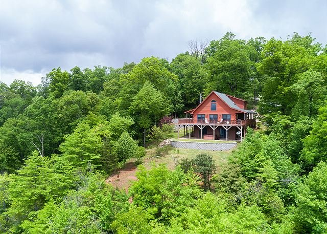 Aerial photo of Cool View Cabin