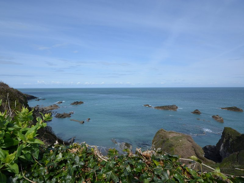 The spectacular views from the decking area