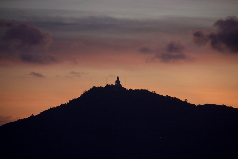 Phuket's iconic Big Buddha across Chalong Bay