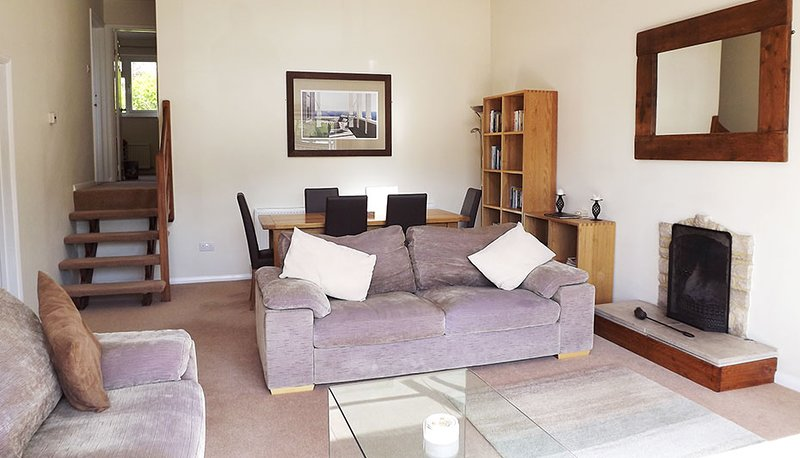 A comfortable, light and airy lounge with superb country views.