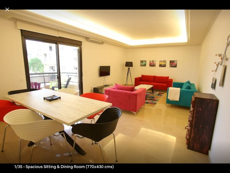 House of Colours, 3 BD, Newly Furnished, 100 sqm, Zalka Souk, Beirut, holiday rental in Beirut