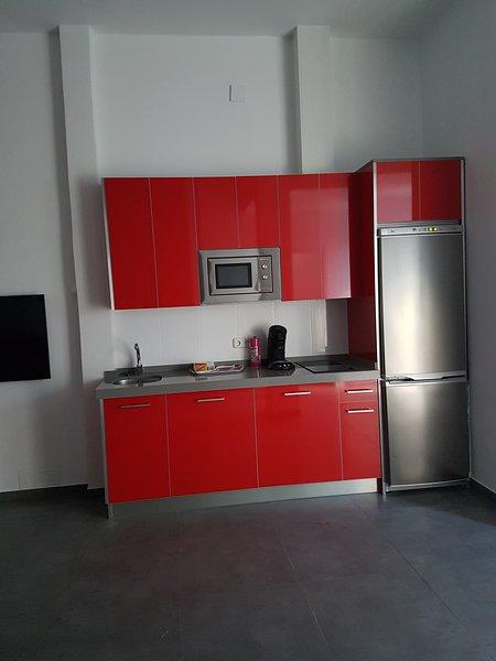 La cucina è dotata di lavatrice, lavastoviglie, frigorifero, congelatore, tostapane, macchina per il caffè, forno a microonde ....