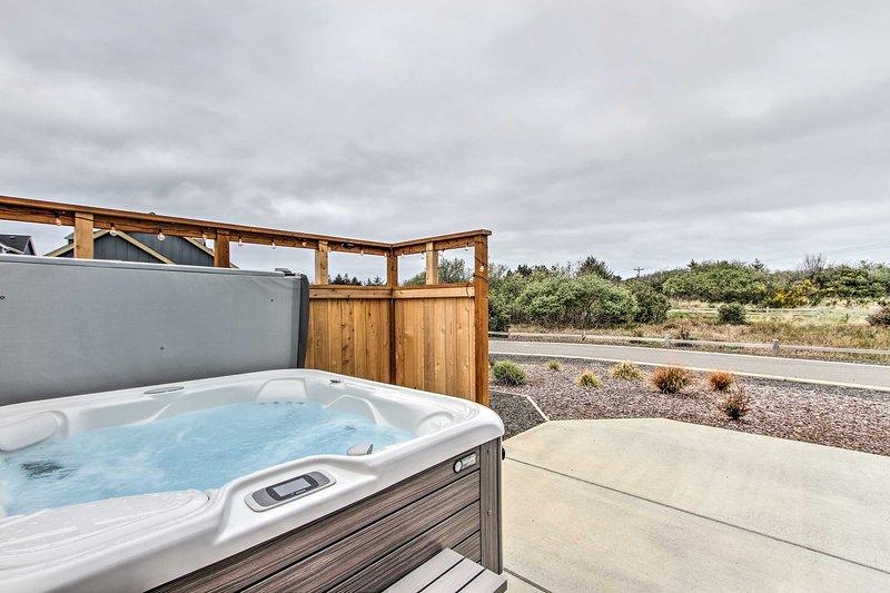 U zult genieten van die toegang hebben tot de private hot tub!