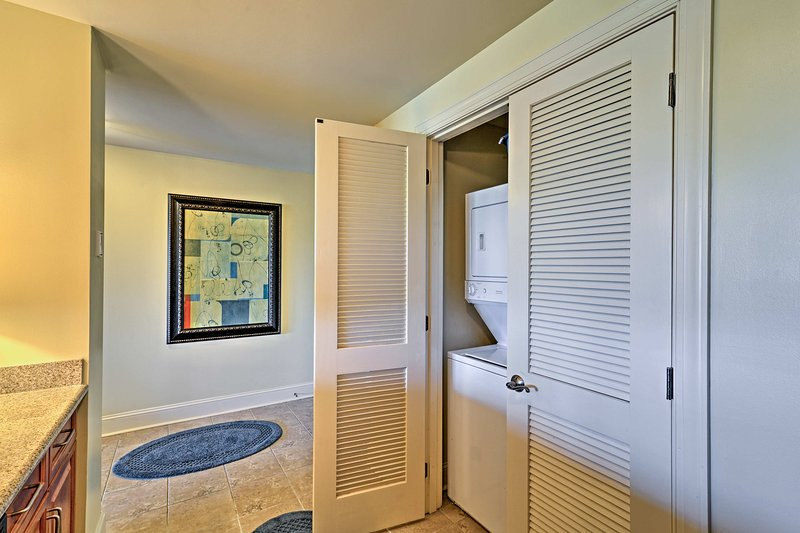 You'll easily keep your beachwear clean with the in-unit washer and dryer.