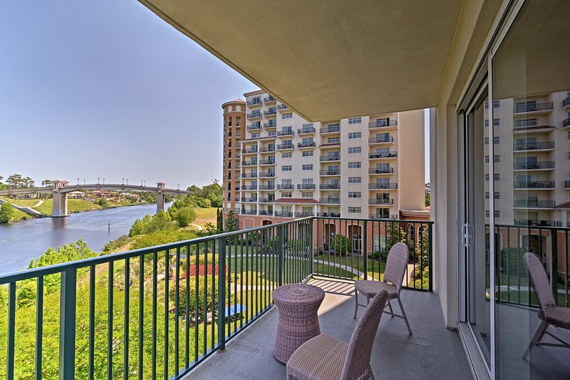 Waterfront views and landscaped lawns greet you at every turn.
