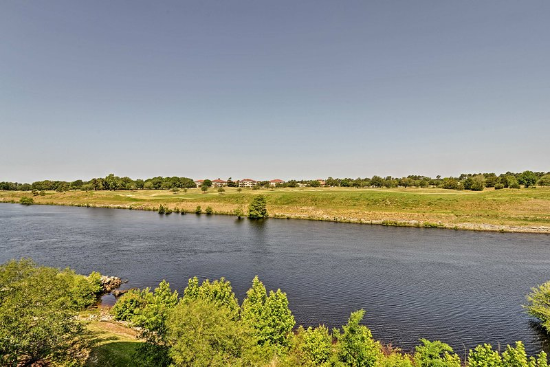Just across the waterway, the course at Grand Dunes Resort Club awaits.