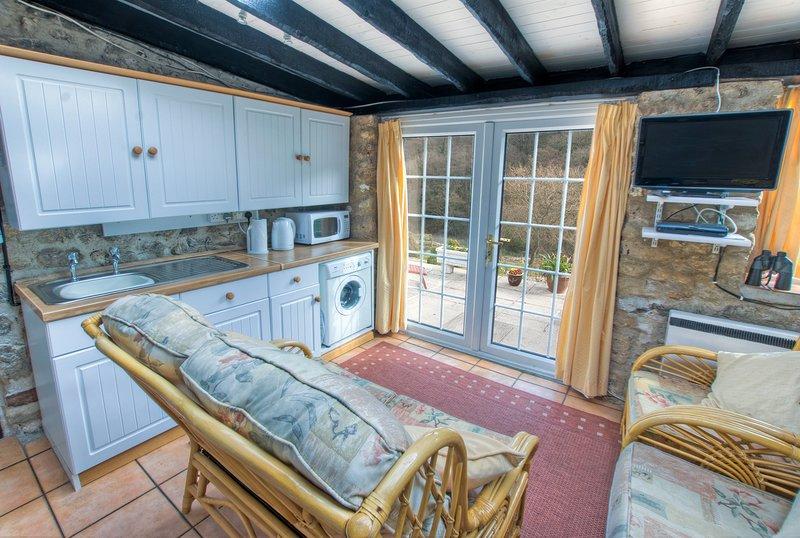 Wohnzimmer / Küche, herrliche Aussicht auf die Landschaft von Devon