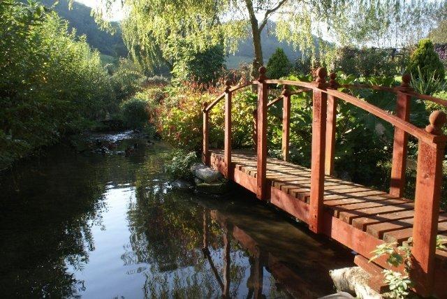 Teich im Secret Garden Cottage