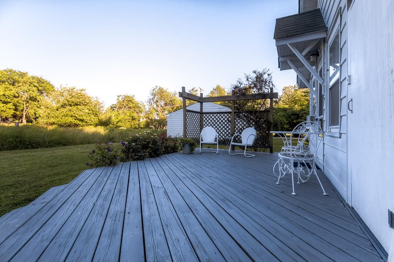 The large deck is a great place to enjoy the fresh air.