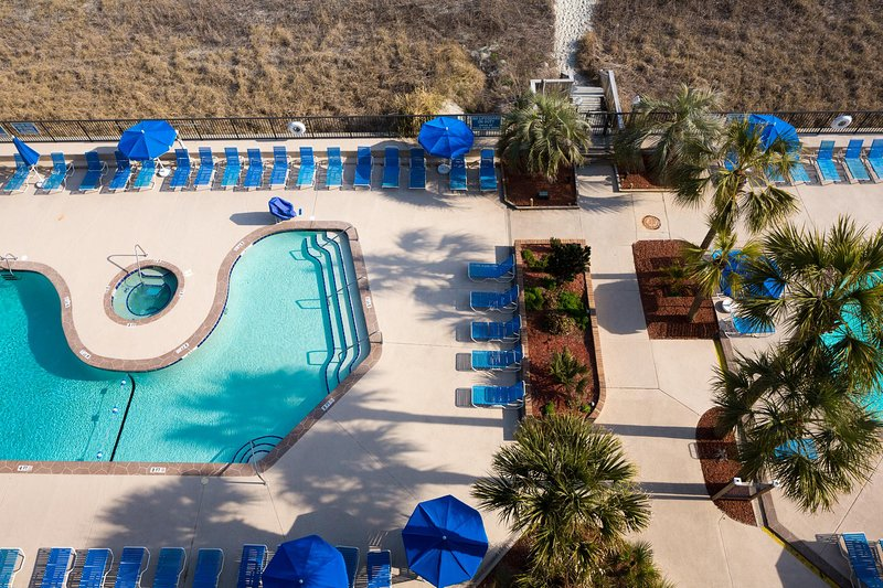 Peppertree Ocean Club Arial View Pool