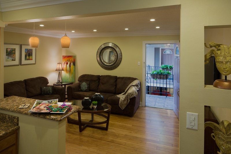Frenchman Orleans at 519 Two Bedroom Living Area