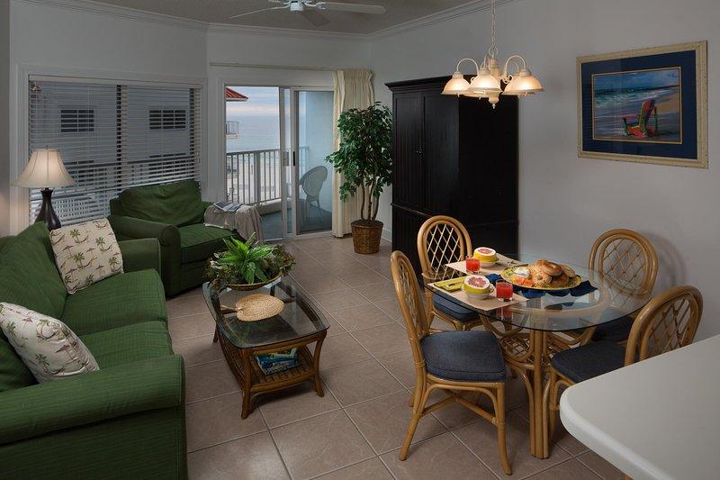 Palm Beach Resort Una Cama Unidad Living dinnette